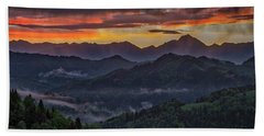 Beach Towel featuring the photograph Slovenia Countryside Dawn by Stuart Litoff