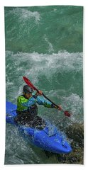 Beach Towel featuring the photograph Slovenia Kayaker by Stuart Litoff