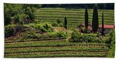 Beach Sheet featuring the photograph Slovenian Vineyard by Stuart Litoff