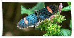 Small Black Postman Butterfly Beach Towel