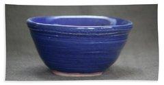 Small Blue Ceramic Bowl Beach Sheet