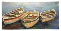 Small Boats Beach Towel