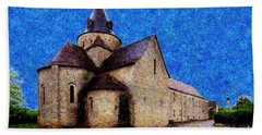 Beach Towel featuring the photograph Small Church 3 by Jean Bernard Roussilhe
