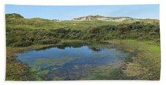Small Lake In The Noordhollandse Duinreservaat Beach Sheet