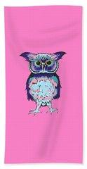 Small Owl Pink Beach Sheet