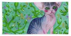 Small Sphynx Beach Towel by Akiko Okabe