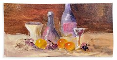 Small Still Life Beach Towel by Larry Hamilton