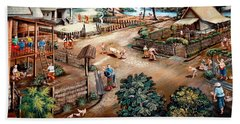 Small Town Community Beach Sheet by Ian Gledhill