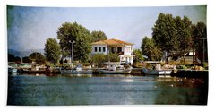 Small Town In Greece Beach Towel