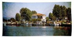Small Town In Greece Beach Sheet