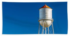 Small Town Water Tower Beach Towel