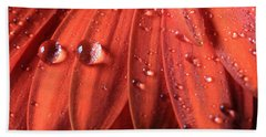 Beach Towel featuring the photograph Small Water Drops by Angela Murdock