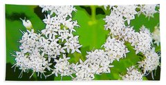 Small White Flowers Beach Sheet