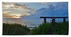 Small World Sunrise   Beach Towel