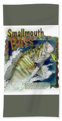 Smallmouth Bass Beach Towel
