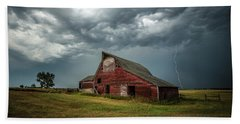 Beach Towel featuring the photograph Smallville by Aaron J Groen