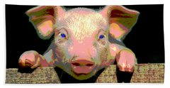 Smart Pig Beach Towel by Charles Shoup