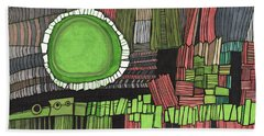 Sun Gone Green Beach Towel by Sandra Church