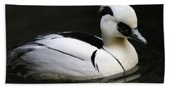 Smew Beach Towel by Living Color Photography Lorraine Lynch