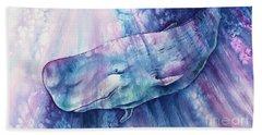 Beach Sheet featuring the painting Smile Of Cachalot by Zaira Dzhaubaeva