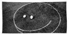 Smiley - Chalk N Eggs Beach Sheet by Aimelle