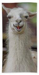 Smiling Alpaca Beach Sheet