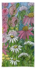 Smiling Flowers Beach Towel