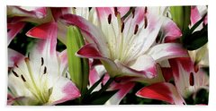 Smiling Lilies Beach Towel