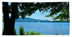 Smith Mountain Lake Sailor Beach Sheet by The American Shutterbug Society
