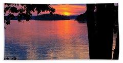 Smith Mountain Lake Sunset Beach Towel