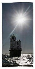 Smith Point Lighthouse Beach Towel