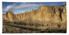 Beach Towel featuring the photograph Smith Rock And Crooked River Panorama by Belinda Greb