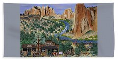 Smith Rock State Park Beach Towel