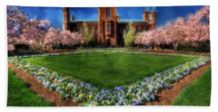 Spring Blooms In The Smithsonian Castle Garden Beach Sheet