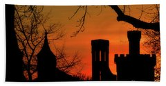 Smithsonian Castle Beach Towel by Luv Photography