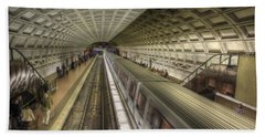 Smithsonian Metro Station Beach Towel