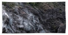 Smoke On Mount Vesuvius Beach Sheet
