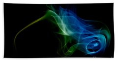 Beach Towel featuring the photograph smoke VI by Joerg Lingnau