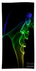 Beach Towel featuring the photograph smoke XIV by Joerg Lingnau