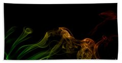 Beach Towel featuring the photograph smoke XXXI by Joerg Lingnau
