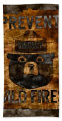 Smokey The Bear Only You Can Prevent Wild Fires Beach Sheet by John Stephens