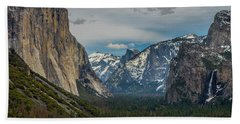 Smokey Yosemite Valley Beach Towel