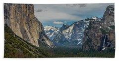 Smokey Yosemite Valley Beach Towel