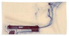Smoking Gun Beach Towel