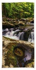 Smoky Mountain Cascade Beach Towel