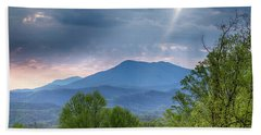 Beach Towel featuring the photograph Smoky Mountain Light by Alan Raasch