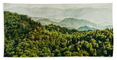 Smoky Mountain Reflections Beach Towel