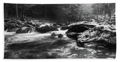 Smoky Mountain River Beach Towel