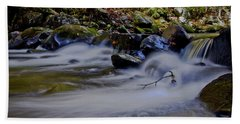 Beach Towel featuring the photograph Smoky Mountain Stream by Douglas Stucky