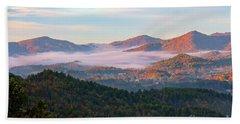 Smoky Mountain Valley Fog Beach Sheet